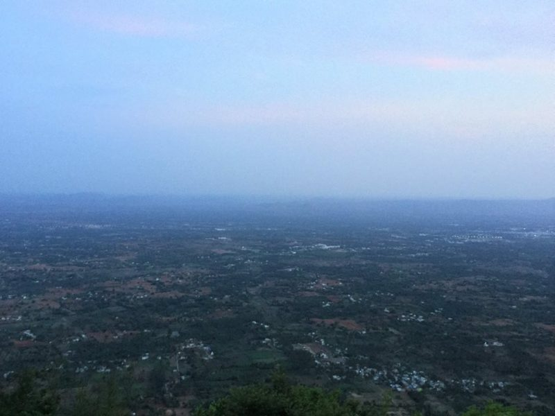 View of Vaniyamvadi from Yelagiri