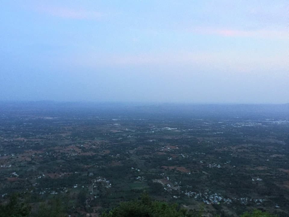 View of Vaniyamvadi from Yelagiri