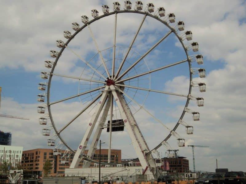 Ferry wheel near Hamburg port
