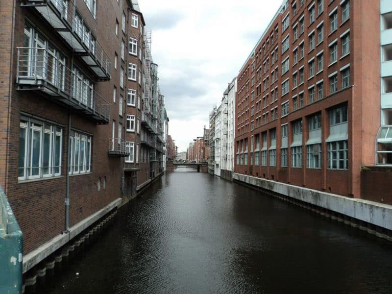 In Hamburg, most of the buildings where red