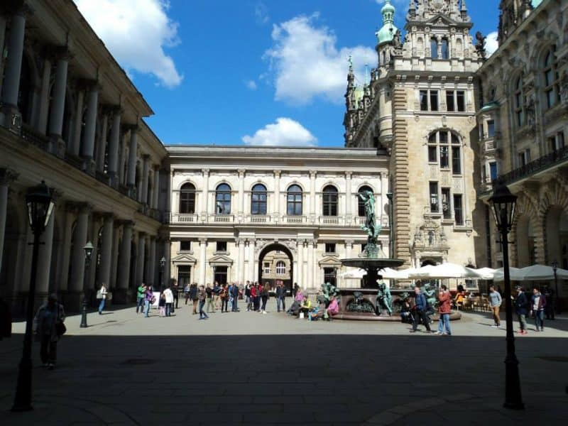 Inside Hamburg Rathaus