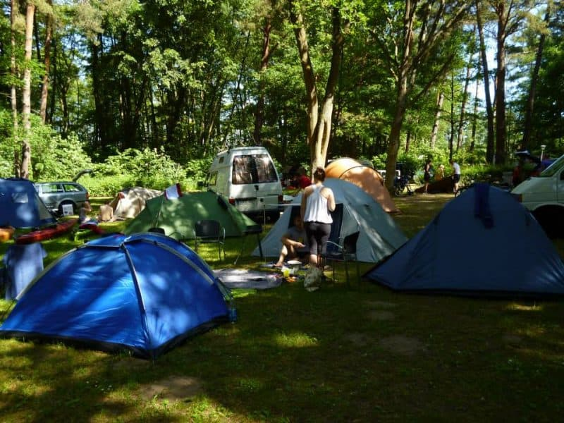 Our tents at Himmelpfort