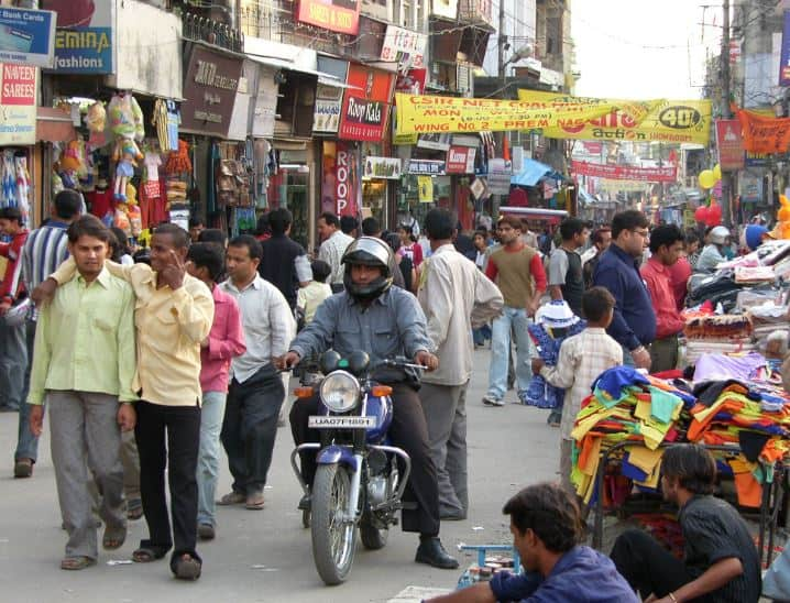 Paltan bazaar street market Dehradun