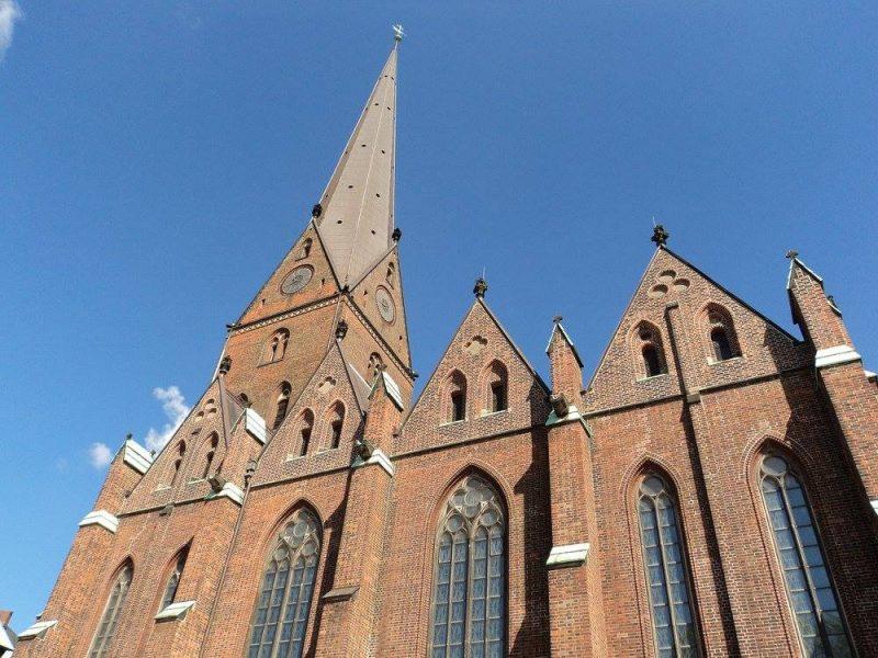 St. Nikolai front view, Hamburg
