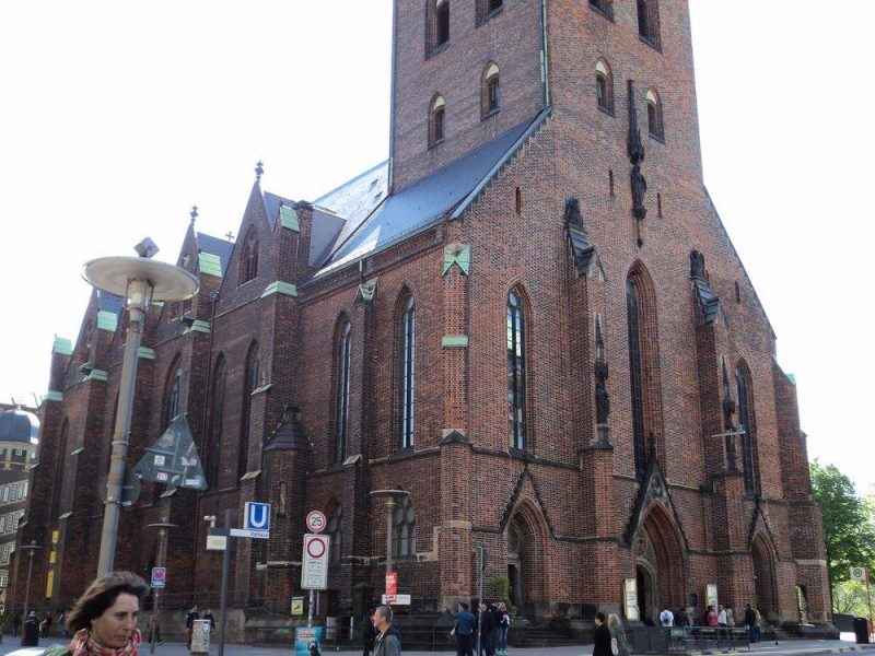 St. Nikolai side view, Hamburg