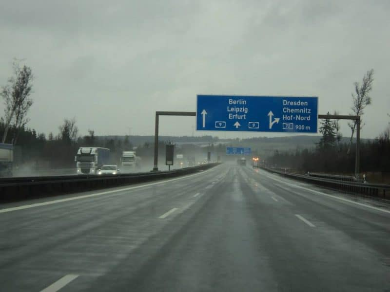 A9 authobahn from berlin to nuremberg