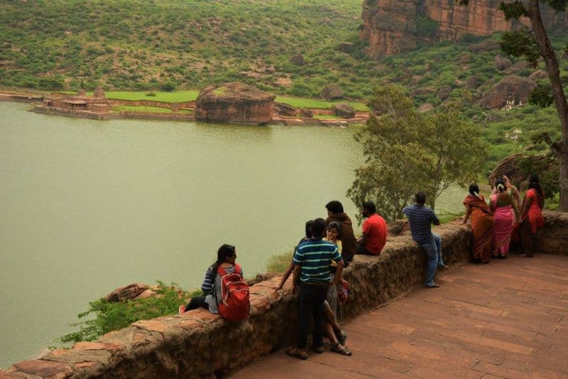 Agastya lake as seen from Badami cave temples