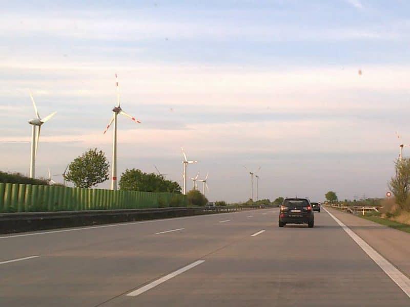 Autobahn sunset