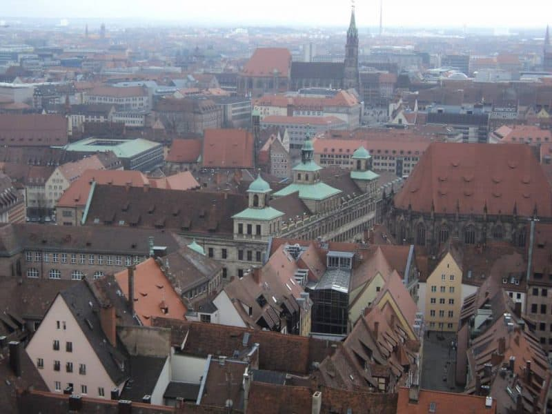Nuremberg aerial view from Nuremberg castle