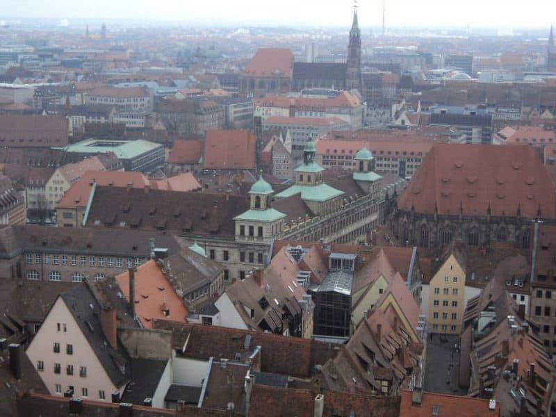 Nuremberg aerial view from Nuremberg castle