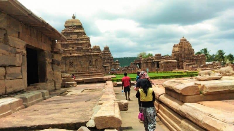 Virpaksha temple in Pattadakal extreme right end