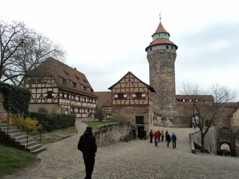 deep well and sinwell tower from nuremberg castle side