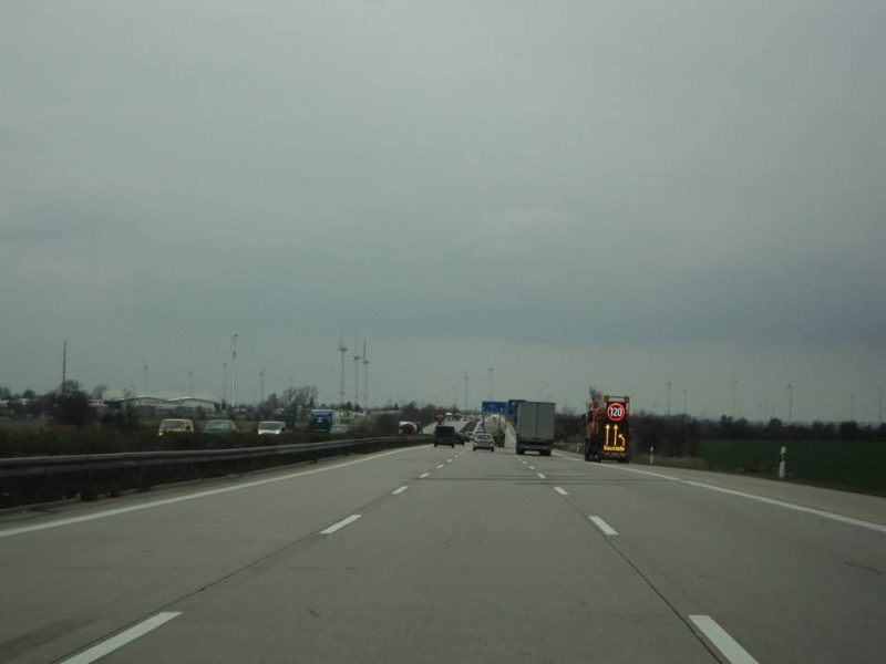 speed limit sign of 120 kph on autobahn in Germany
