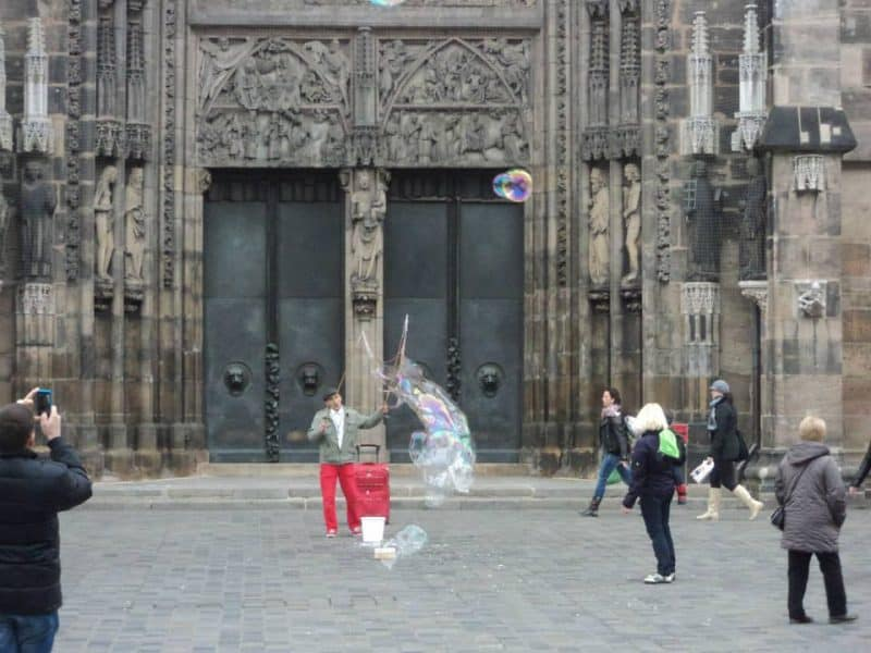 Nuremberg old town square fun