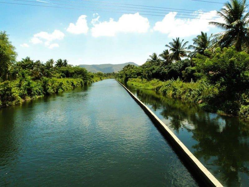 River Kaveri canal on the way from Gaganachukki to Barachukki