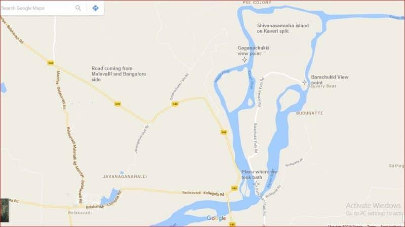 shivanasamdura-gaganachukki-falls-barachukki-falls-and-river-kaveri-map