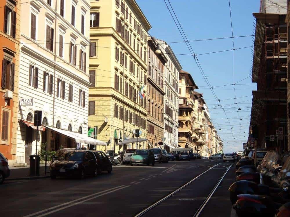 Rome city tram lines