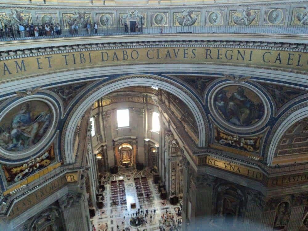 Inside St. Peters Basilica Church