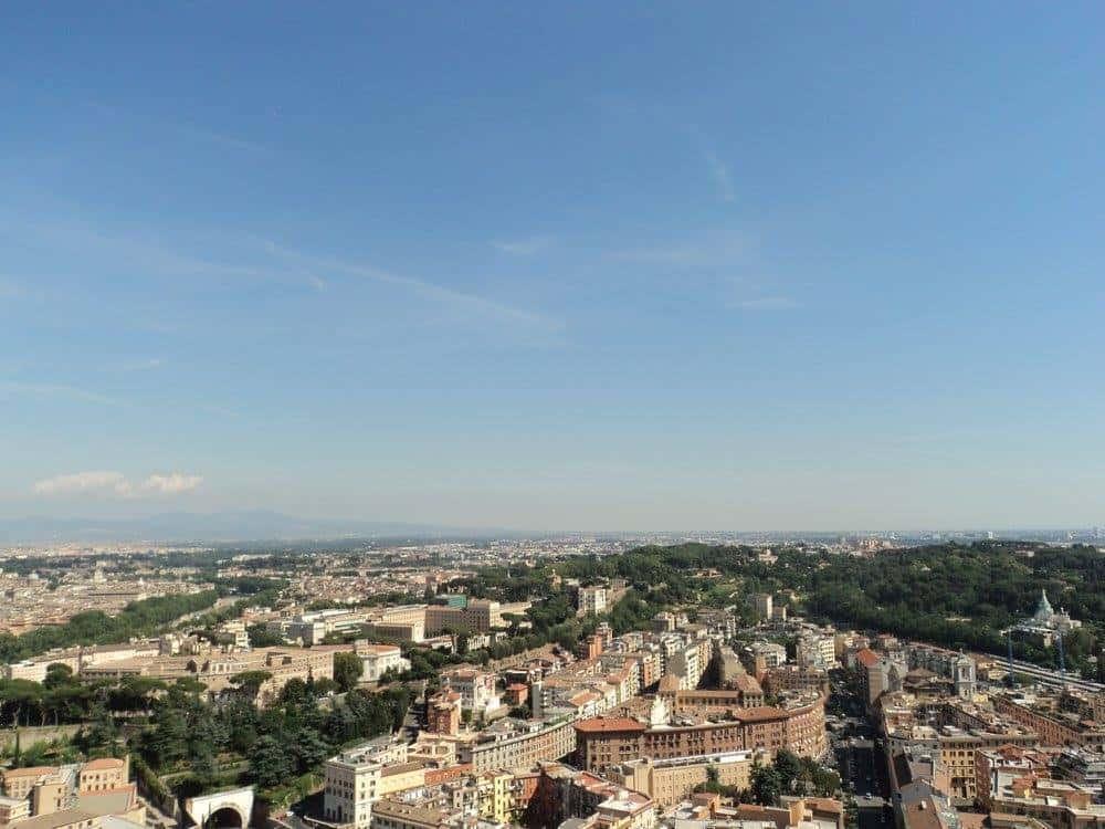 Vatican City from the dome of St. Peters Basilica