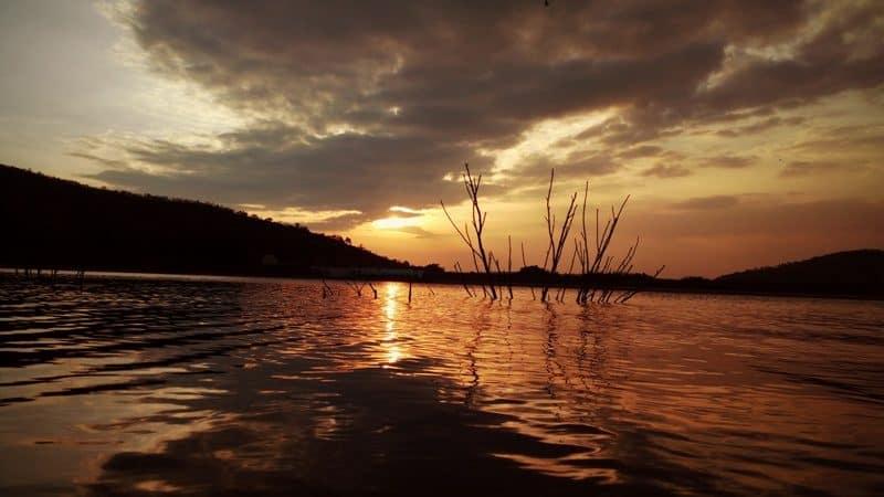 Kanva dam at the sunset