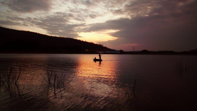 fishermen in Kanva Reservoir