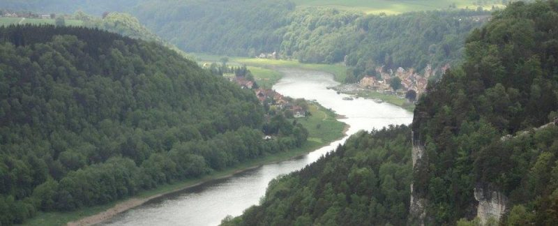 river elbe through saxon switzerland national park
