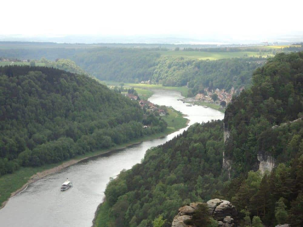 river elbe through saxon switzerland national park