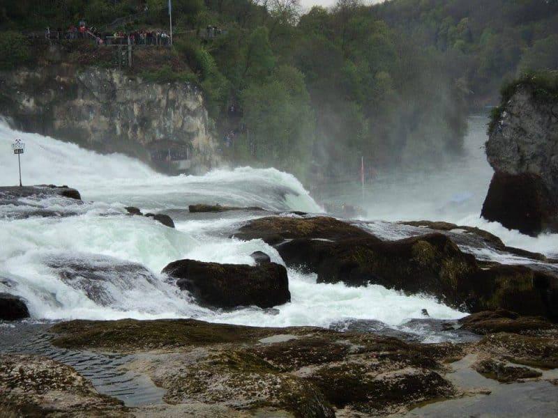 Rhine falls and water fog