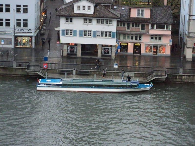 Zurich sightseeing boat