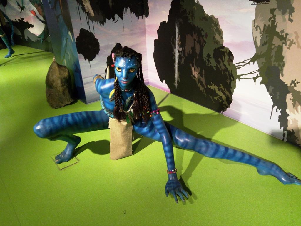 Avatar Character statue at Kolkata wax museum