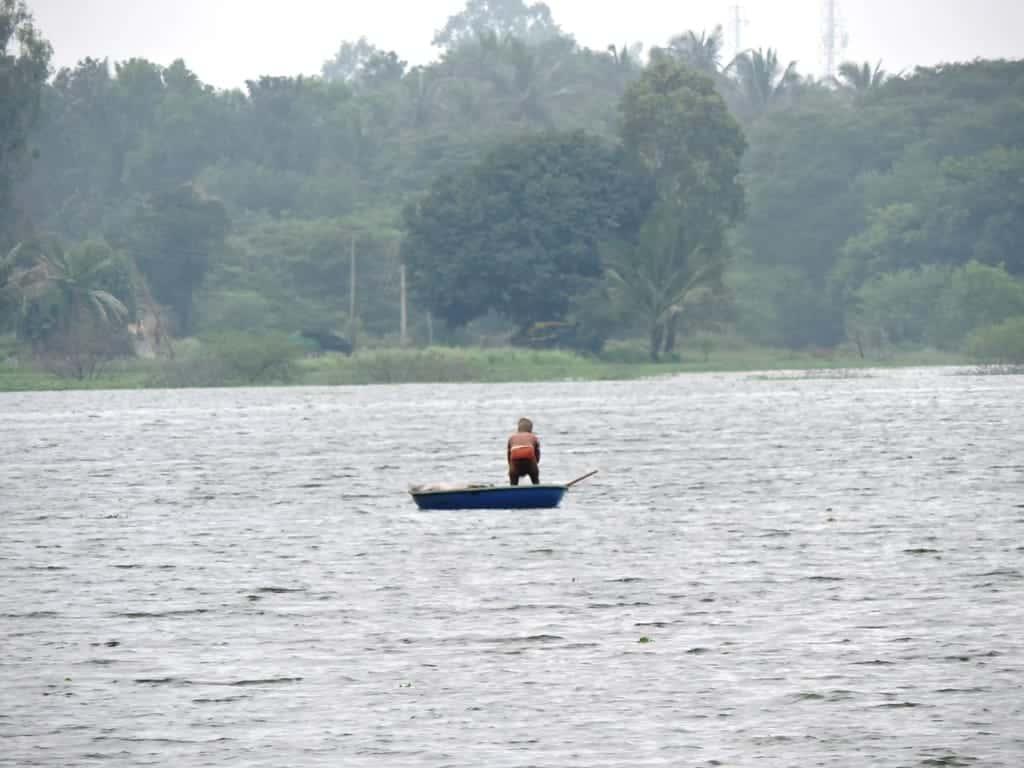 Fishing at Muthanallur lake