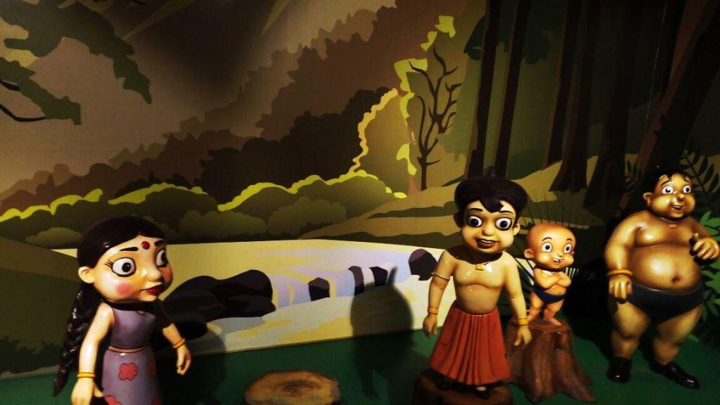 Hindi comic characters statue at Kolkata wax museum