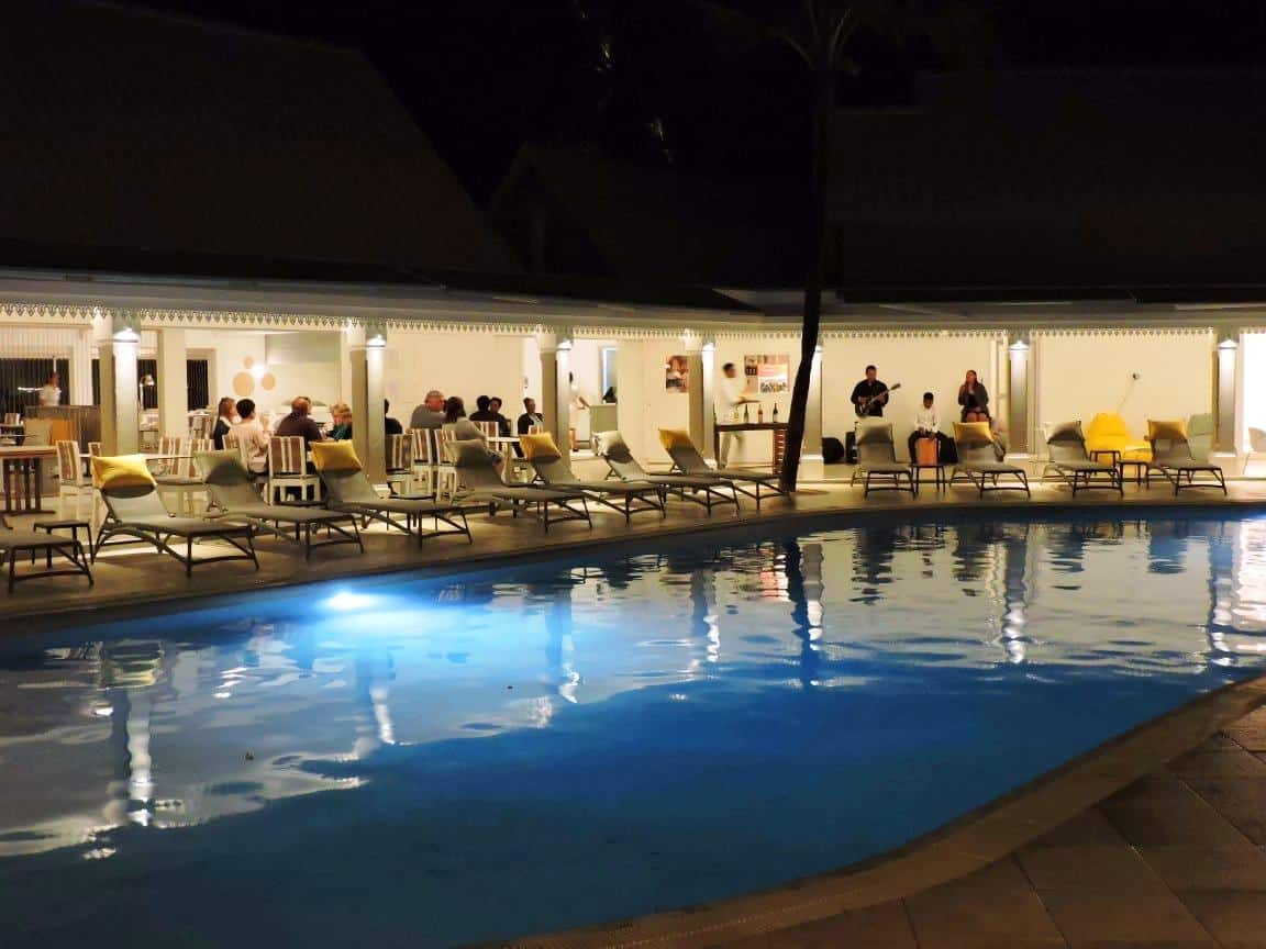Live music by swimming pool at Tropical Attitude Hotel