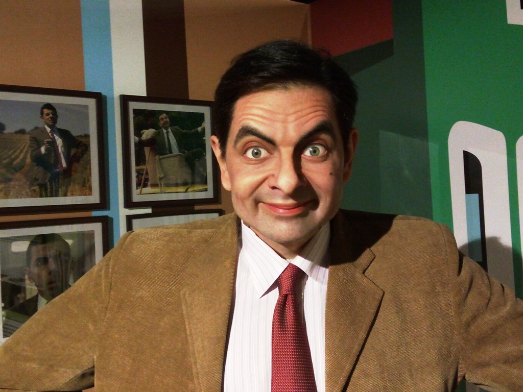 Mr. Bean statue at Kolkata wax museum