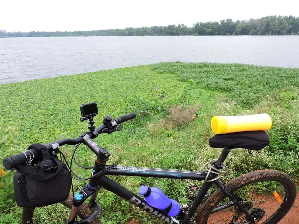 Muthanallur lake cycling from bangalore