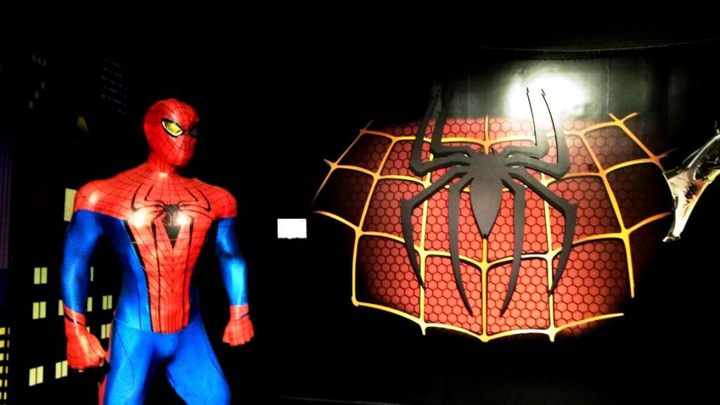 Spider man statue at Kolkata wax museum