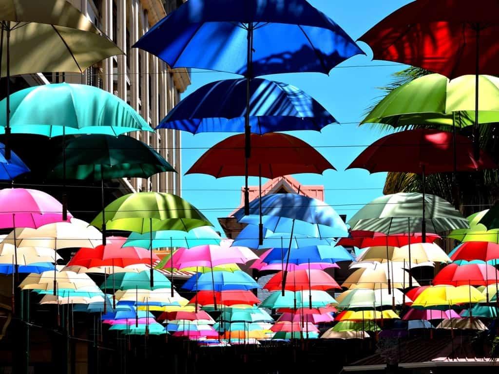 Umbrella market, Port Louis