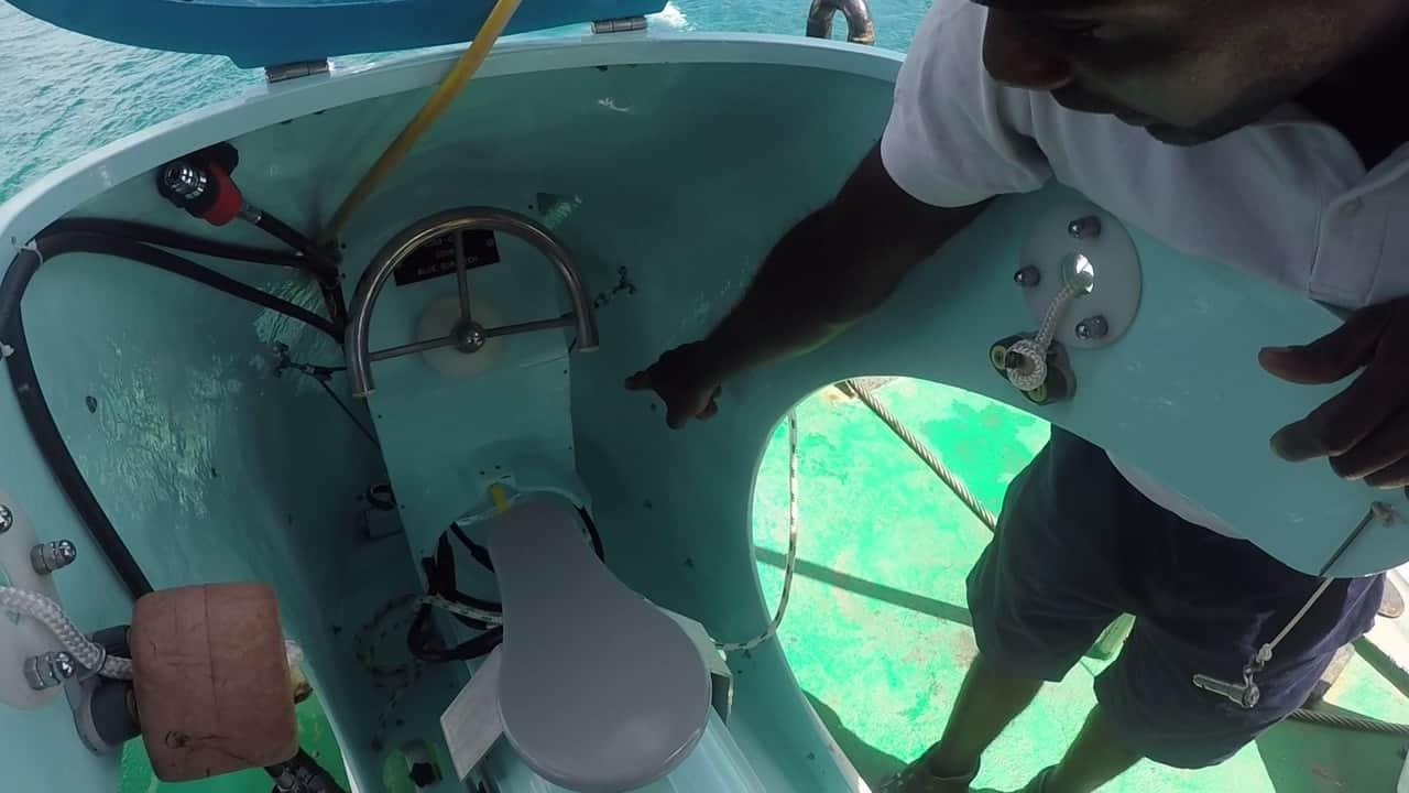 a look inside blue safari sub scooter