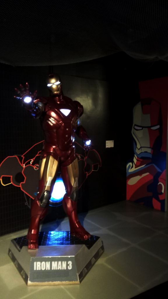 iron man statue at Kolkata wax museum