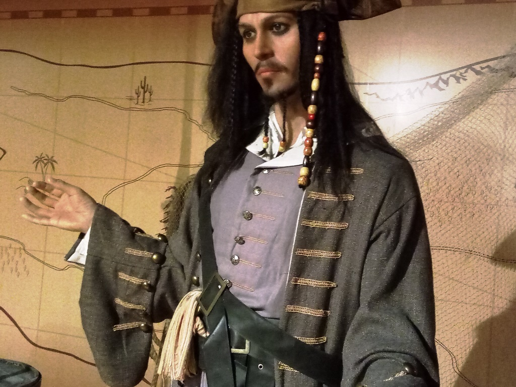 johnny depp statue at Kolkata wax museum
