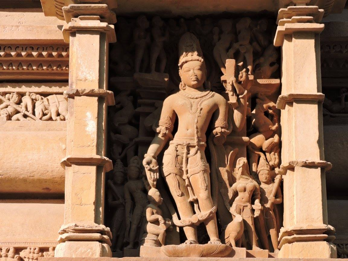 Statue of 12 Avatars of Lord Vishnu in Khajuraho