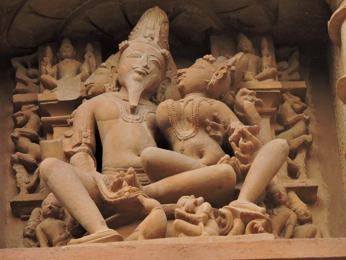 Statue of the god of fire in Khajuraho