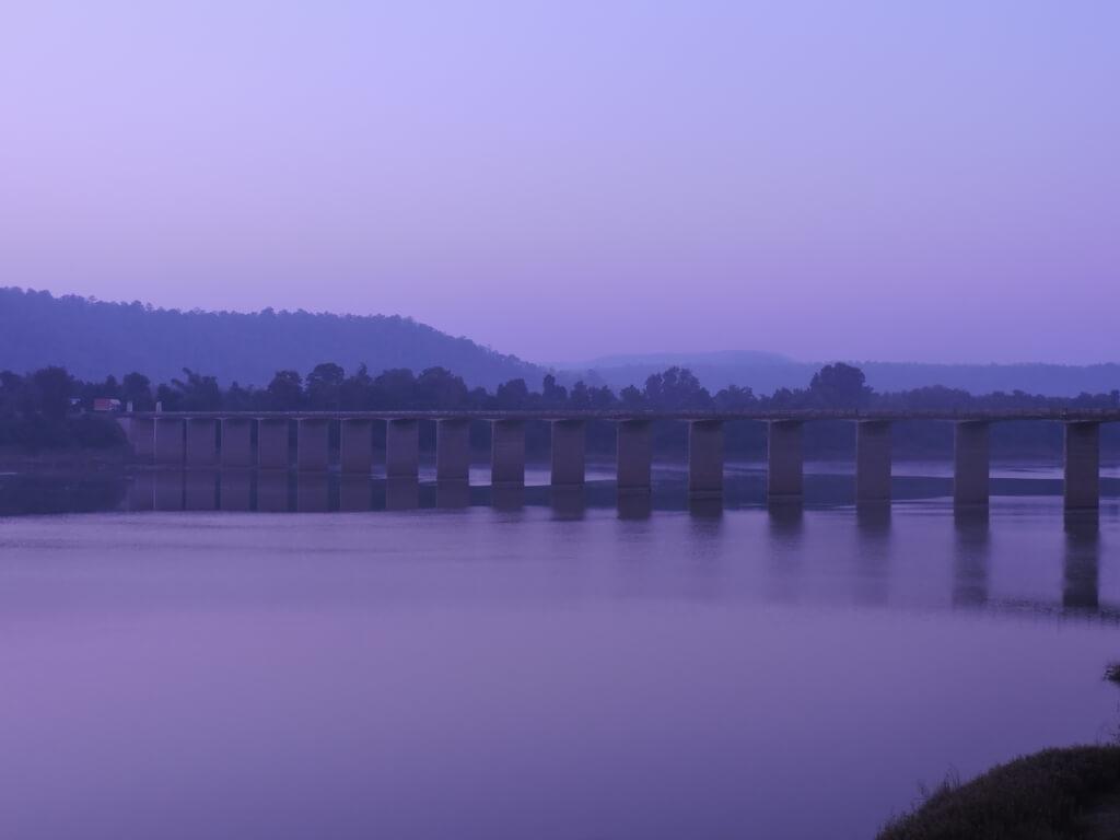 The Bridge across river Ken near Karnavati ticket counter