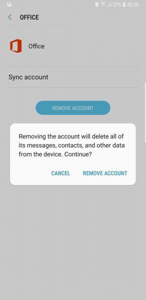 Remove accounts