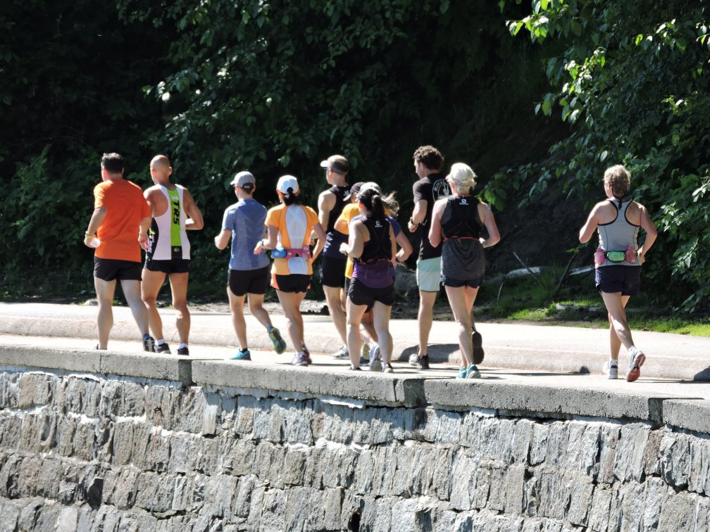 A jogging group in stanley park