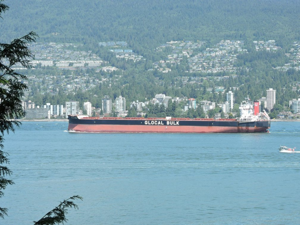 Ship Container in Burrand inlet from Stanley parkShip Container in Burrand inlet from Stanley park
