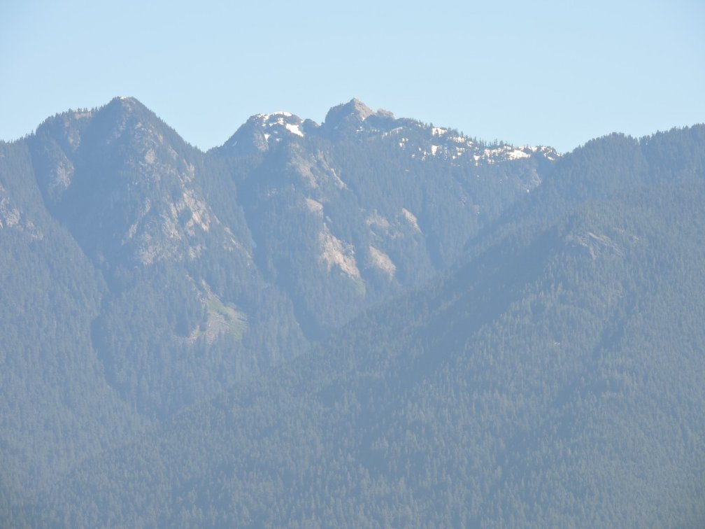 Snow capped peak from Stanley park