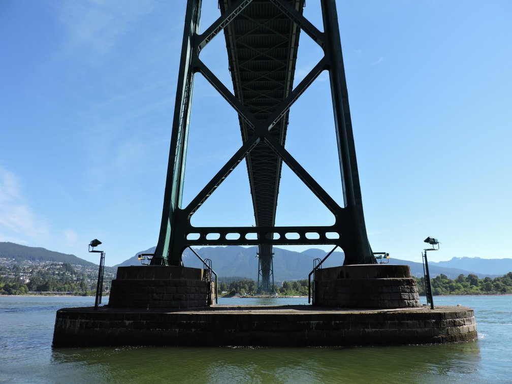 Under Lion's Gate Bridge