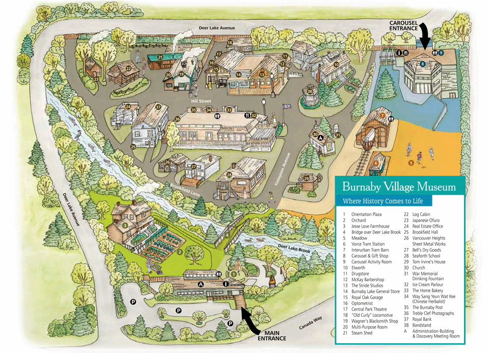 Burnaby Village Museum Map