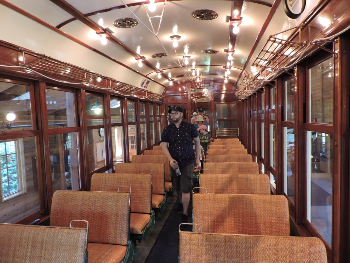 Inside train carriage